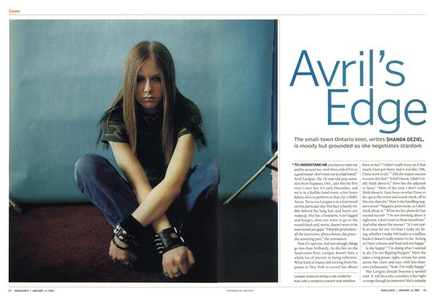 Article Preview: Avril's Edge, January 2003 | Maclean's