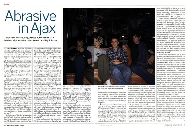 Article Preview: Abrasive in Ajax, January 2003 | Maclean's