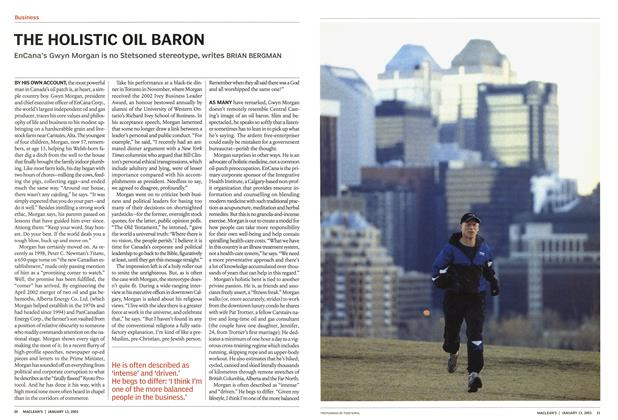 Article Preview: THE HOLISTIC OIL BARON, January 2003 | Maclean's
