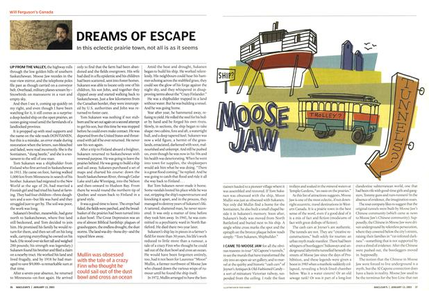 Article Preview: DREAMS OF ESCAPE, January 2003 | Maclean's
