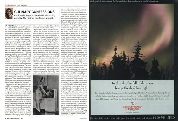Article Preview: CULINARY CONFESSIONS, January 2003 | Maclean's