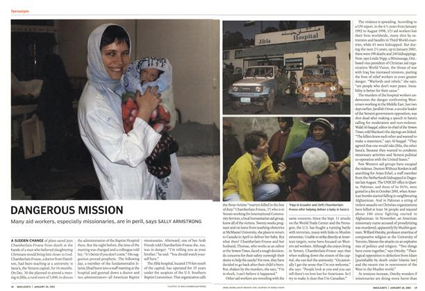 Article Preview: DANGEROUS MISSION, January 2003 | Maclean's