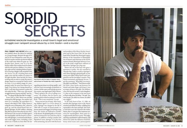 Article Preview: SORDID SECRETS, January 2003 | Maclean's