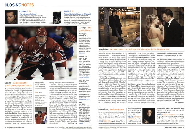 Article Preview: Television, January 2003 | Maclean's