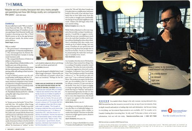 Article Preview: THE MAIL, January 2003   Maclean's
