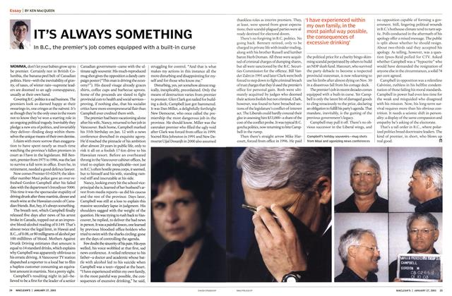 Article Preview: IT'S ALWAYS SOMETHING, January 2003 | Maclean's