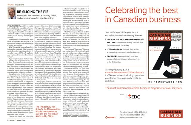 Article Preview: RE-SLICING THE PIE, January 2003 | Maclean's
