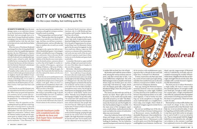 Article Preview: CITY OF VIGNETTES, January 2003 | Maclean's