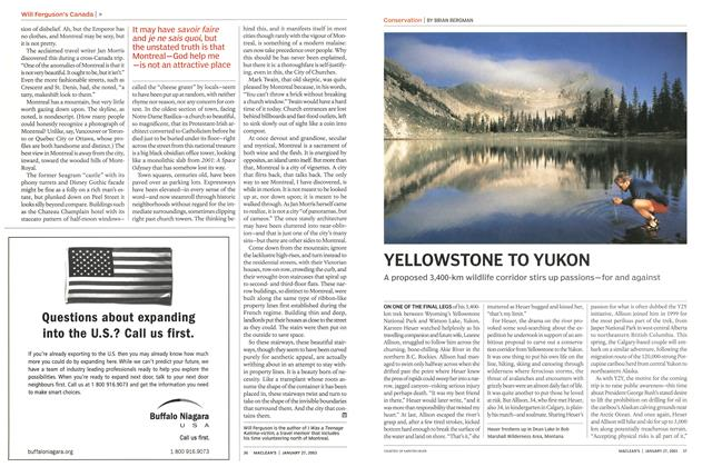 Article Preview: YELLOWSTONE TO YUKON, January 2003 | Maclean's