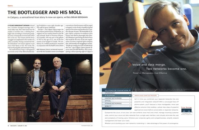 Article Preview: THE BOOTLEGGER AND HIS MOLL, January 2003 | Maclean's