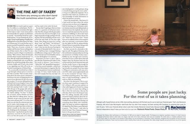 Article Preview: THE FINE ART OF FAKERY, January 2003 | Maclean's