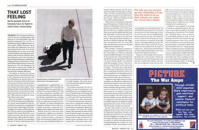 Article Preview: THAT LOST FEELING, February 2003 | Maclean's
