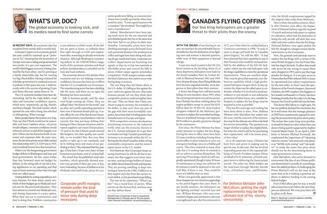 Article Preview: CANADA'S FLYING COFFINS, February 2003 | Maclean's