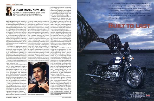 Article Preview: A DEAD MAN'S NEW LIFE, February 2003 | Maclean's