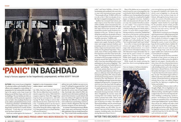Article Preview: 'PANIC'IN BAGHDAD, February 2003 | Maclean's