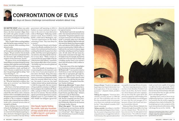 Article Preview: CONFRONTATION OF EVILS, February 2003 | Maclean's