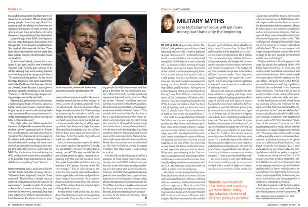 Article Preview: MILITARY MYTHS, February 2003 | Maclean's