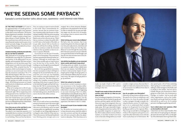 Article Preview: 'WE'RE SEEING SOME PAYBACK', February 2003 | Maclean's