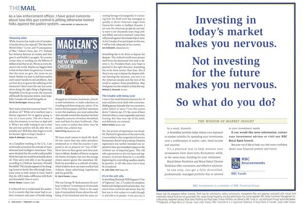Article Preview: THEMAIL, February 2003 | Maclean's