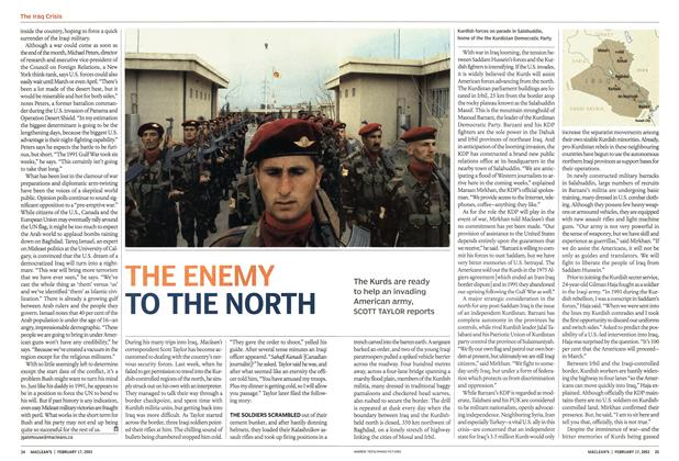 Article Preview: THE ENEMY TO THE NORTH, February 2003 | Maclean's