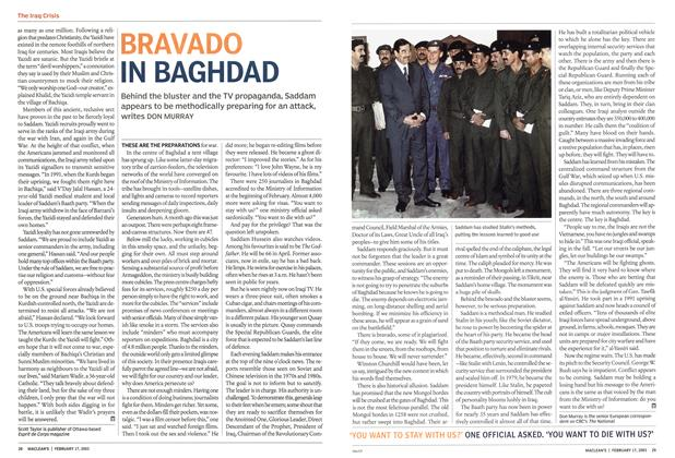 Article Preview: BRAVADO IN BAGHDAD, February 2003 | Maclean's