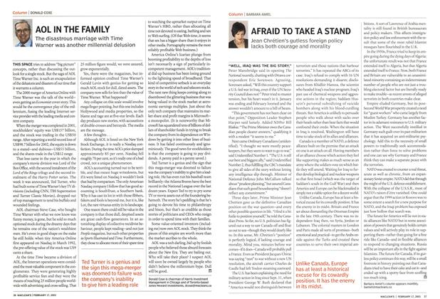 Article Preview: AFRAID TO TAKE A STAND, February 2003 | Maclean's