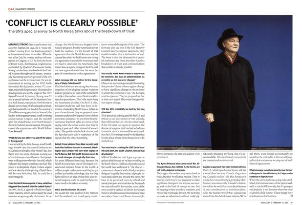 Article Preview: 'CONFLICT IS CLEARLY POSSIBLE', February 2003   Maclean's