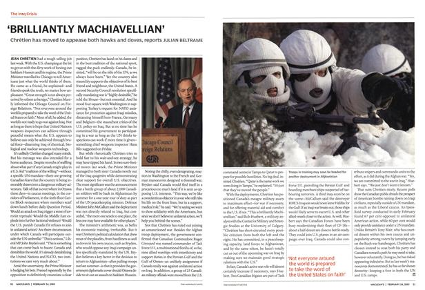 Article Preview: 'BRILLIANTLY MACHIAVELLIAN', February 2003 | Maclean's