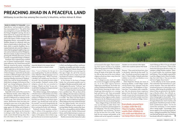 Article Preview: PREACHING JIHAD IN A PEACEFUL LAND, February 2003 | Maclean's