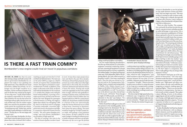 Article Preview: IS THERE A FAST TRAIN COMIN'?, February 2003 | Maclean's