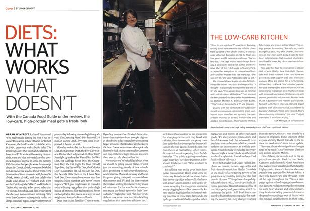 Article Preview: DIETS: WHAT WORKS WHAT DOESN'T, February 2003 | Maclean's