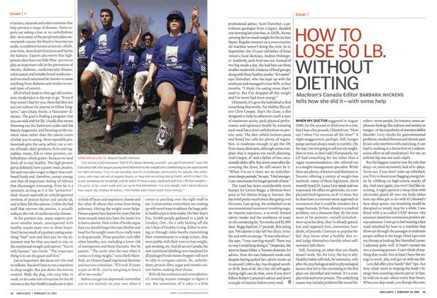 Article Preview: HOW TO LOSE 50 LB. WITHOUT DIETING, February 2003 | Maclean's