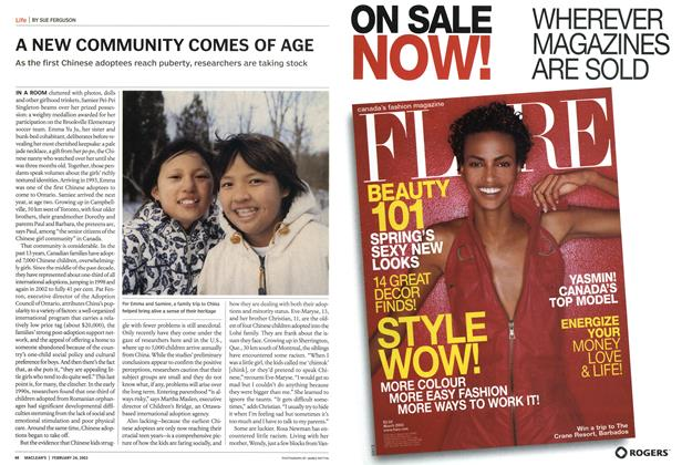 Article Preview: A NEW COMMUNITY COMES OF AGE, February 2003   Maclean's