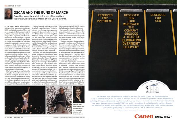 Article Preview: OSCAR AND THE GUNS OF MARCH, February 2003 | Maclean's