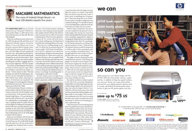 Article Preview: MACABRE MATHEMATICS, February 2003 | Maclean's
