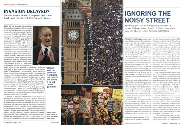 Article Preview: INVASION DELAYED?, March 2003 | Maclean's