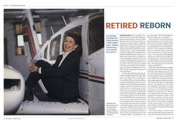 Article Preview: RETIRED REBORN, March 2003 | Maclean's