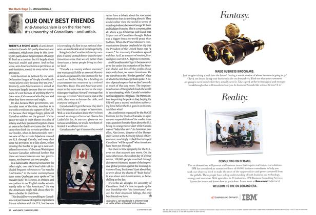 Article Preview: OUR ONLY BEST FRIENDS, March 2003 | Maclean's
