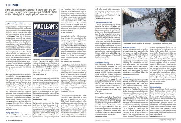 Article Preview: THE MAIL, March 2003 | Maclean's