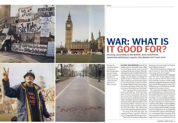 Article Preview: WAR: WHAT IS IT GOOD FOR?, March 2003 | Maclean's