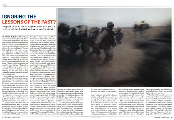 Article Preview: IGNORING THE LESSONS OF THE PAST?, March 2003 | Maclean's