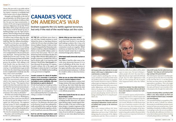 Article Preview: CANADA'S VOICE ON AMERICA'S WAR, March 2003 | Maclean's