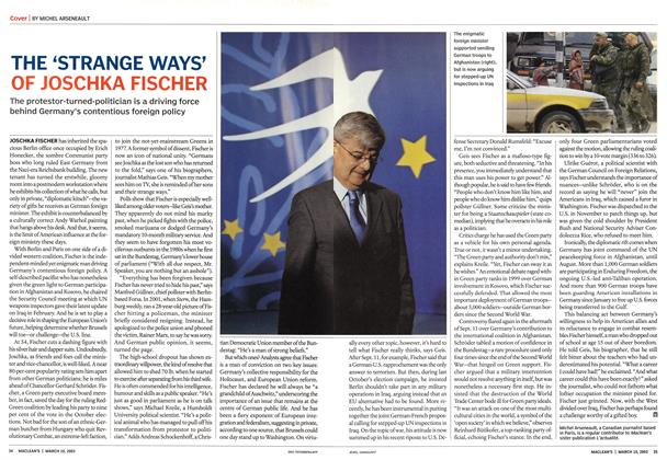 Article Preview: THE 'STRANGE WAYS' OF JOSCHKA FISCHER, March 2003 | Maclean's
