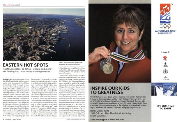Article Preview: EASTERN HOT SPOTS, March 2003 | Maclean's