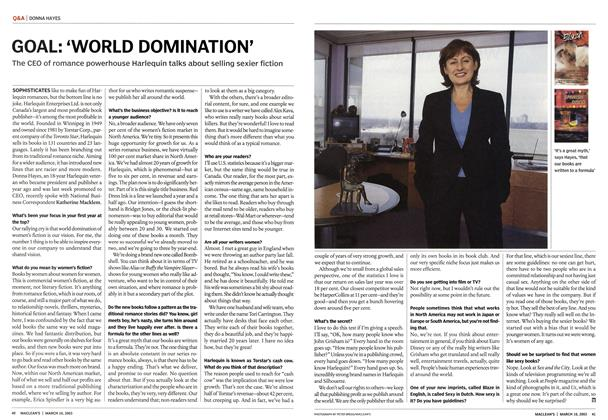 Article Preview: GOAL: 'WORLD DOMINATION', March 2003 | Maclean's