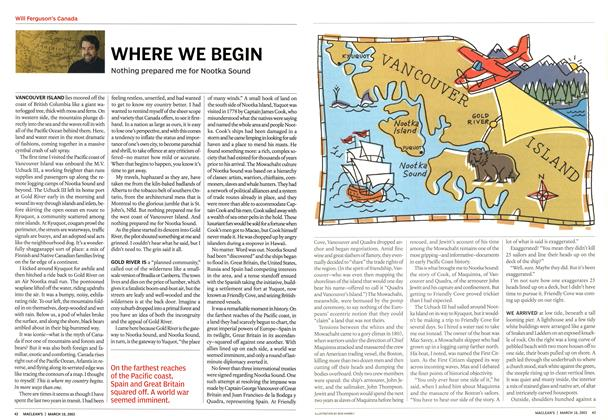 Article Preview: WHERE WE BEGIN, March 2003 | Maclean's