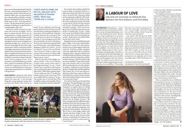 Article Preview: A LABOUR OF LOVE, March 2003 | Maclean's