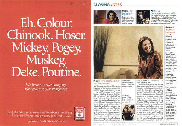 Article Preview: People, March 2003 | Maclean's