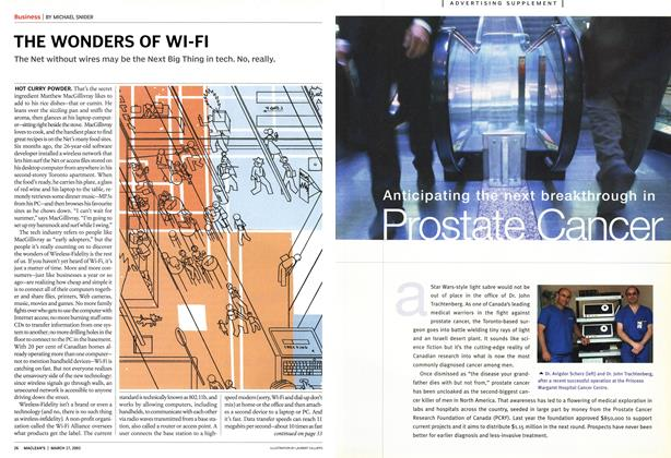 Article Preview: THE WONDERS OF WI-FI, March 2003 | Maclean's