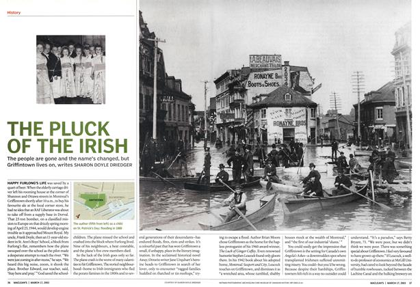 Article Preview: THE PLUCK OF THE IRISH, March 2003 | Maclean's